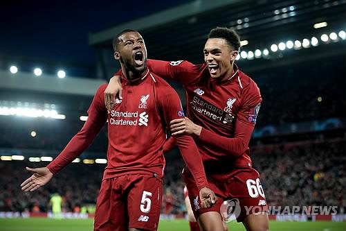 리버풀, 2018-2019시즌 EPL 최고수입 2천296억원…맨시티 앞질러